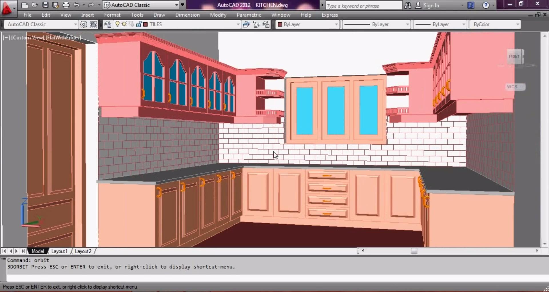 Autocad 3d Kitchen School Of 3d Visualization