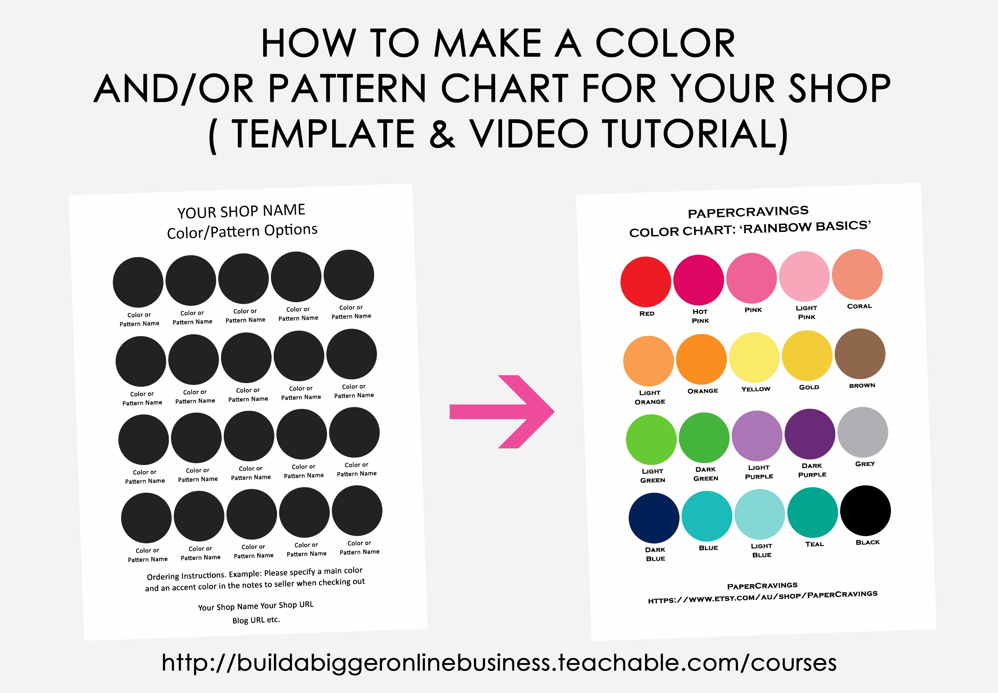 How to make a color chart in Photoshop | Build a Bigger Online