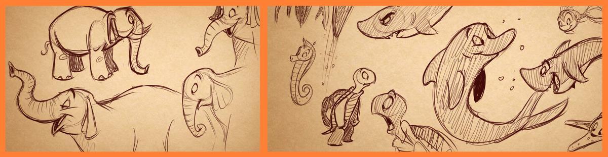 how to draw cartoon animals toonboxstudio