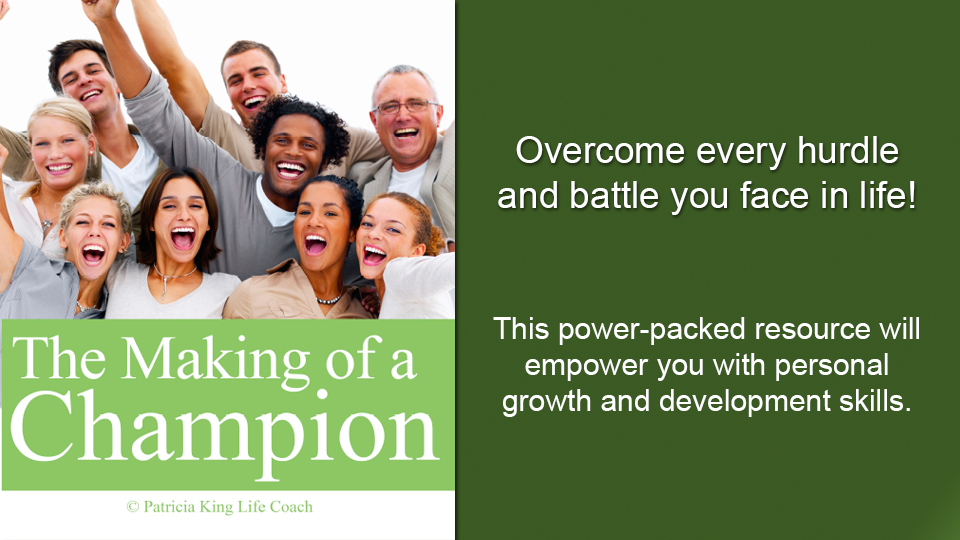 4a3825132 You were created to overcome every hurdle and battle you face in life. You  are a champion! The Making of ...
