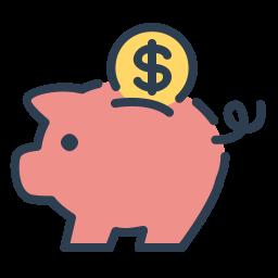 Piggy Bank Image to illustrate Sweet Fest referral program for design services.