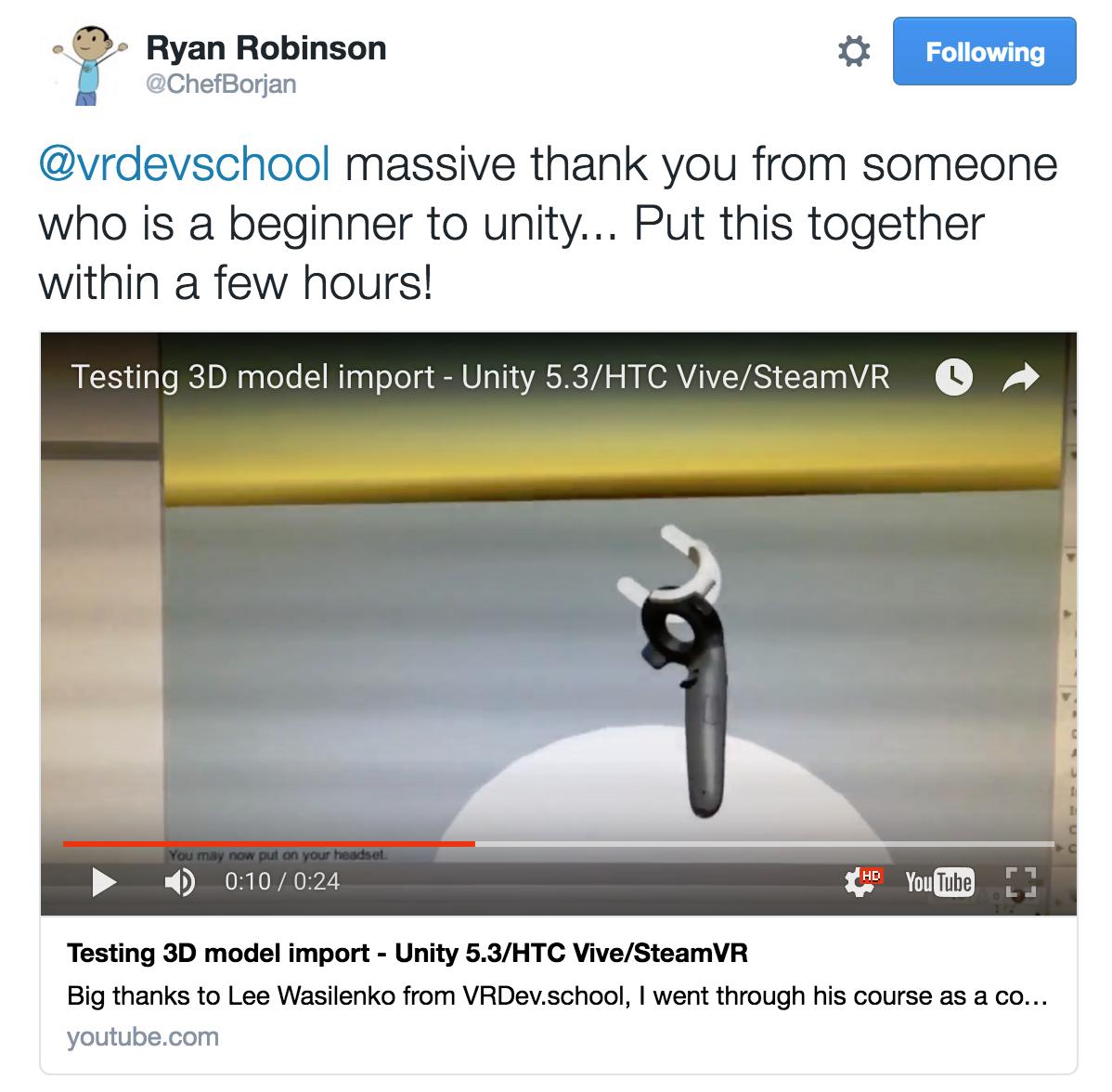 Unity VR Developer | VR Dev School