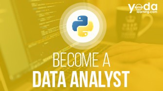 An Image of Become a Data Analyst using Python