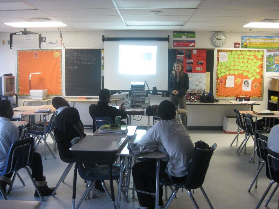 A real photo from my teaching days in Baltimore just a few years after The Wire wrapped production
