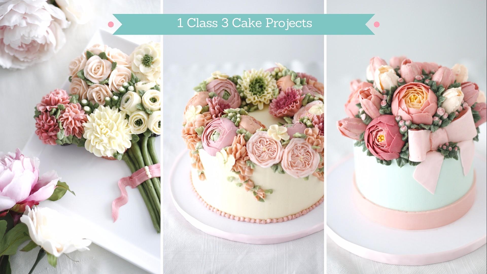 Buttercream flowers class make fabulous cakes school izmirmasajfo